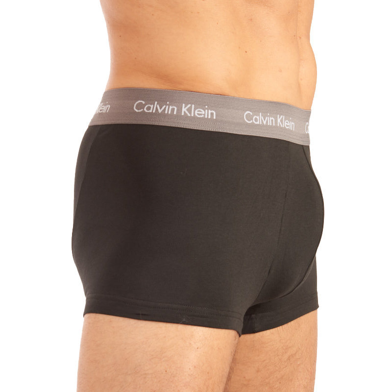calvin klein mens ck low rise trunks boxers u2664g-szm cotton 3x pack underwear