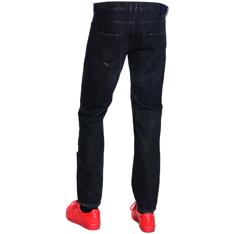 diesel black gold type 2813 bg8y0 mens denim jeans slim trouser pant black italy