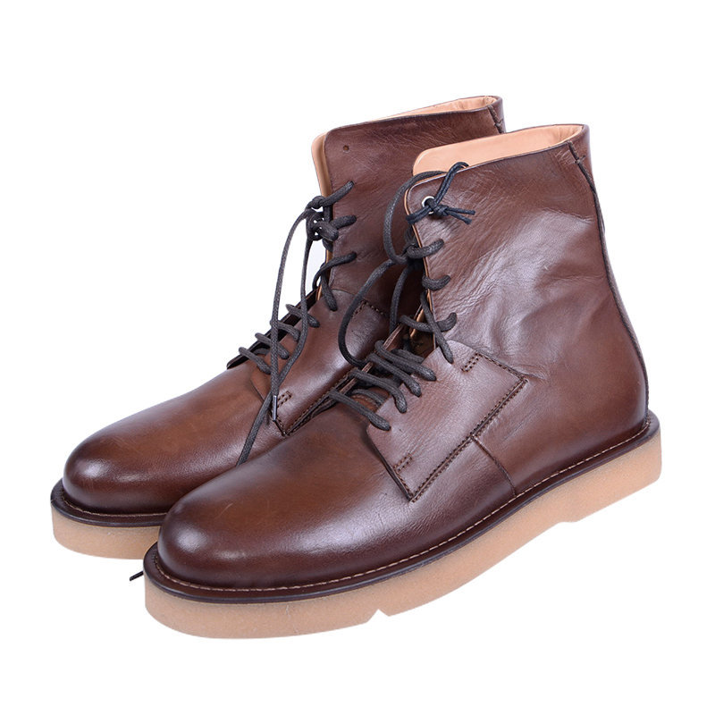 diesel d paradox dbb mens boots genuine leather high neck brown casual boots