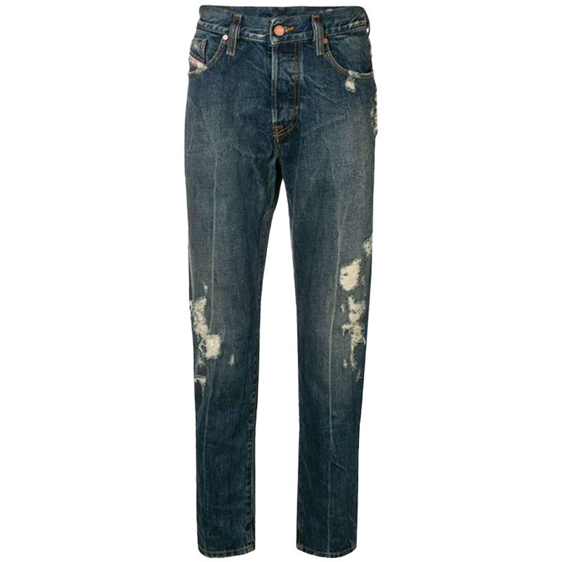 diesel mharky 084zm mens denim jeans distressed slim fit skinny made in italy