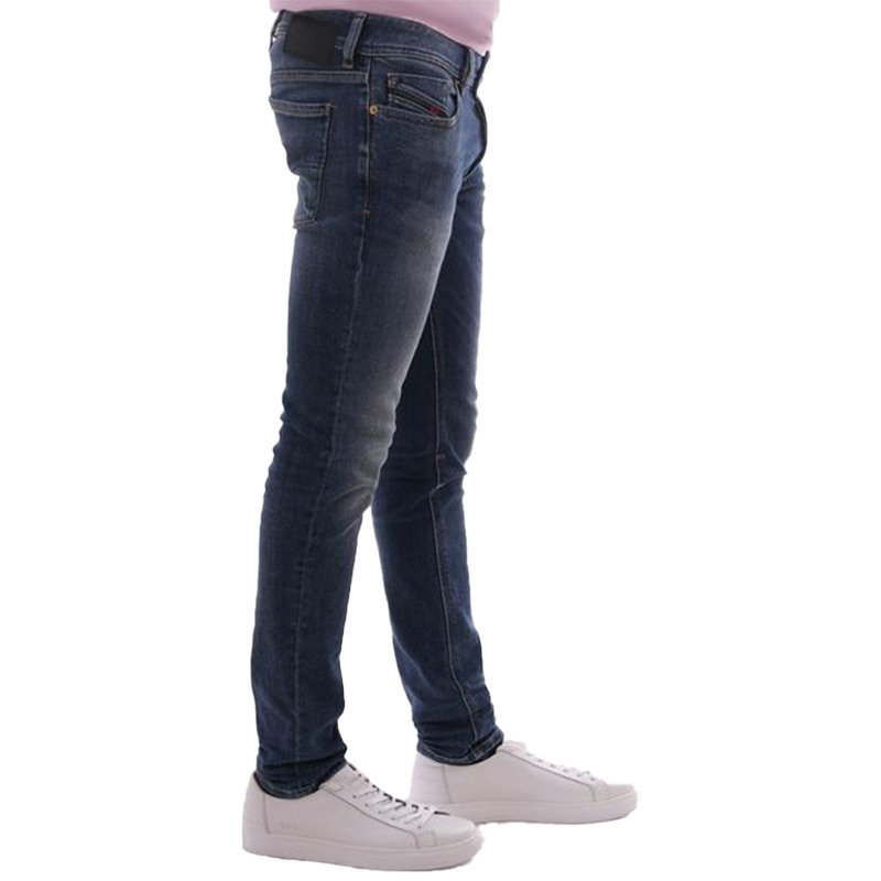 diesel sleenker 082ab mens denim jeans cotton stretch denim blue slim skinny fit