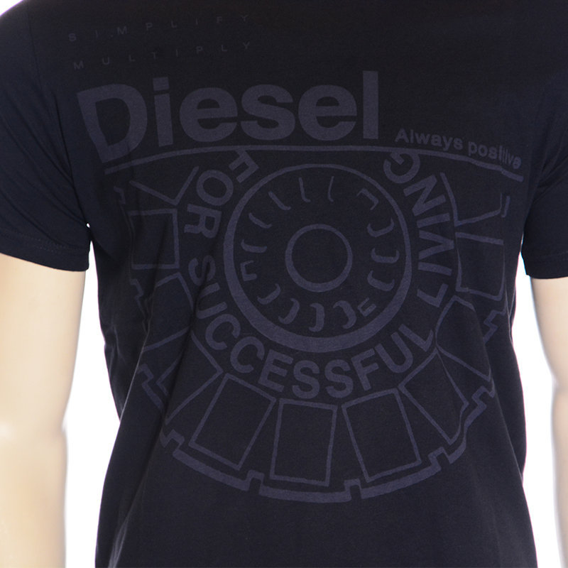 diesel t ballock r 0r91b mens t-shirt crew neck short sleeve casual cotton tee