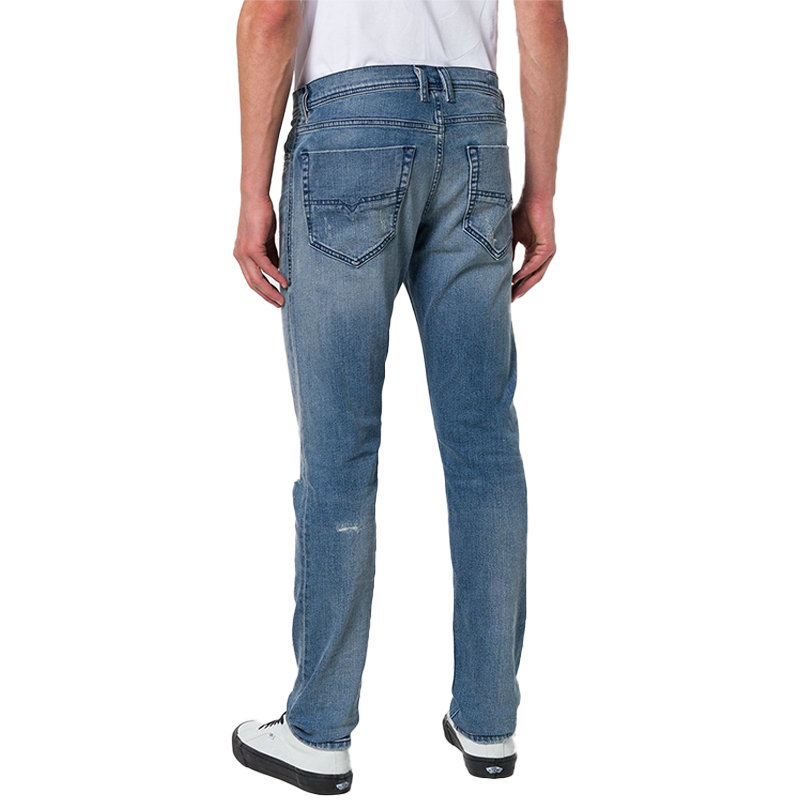 diesel tepphar 084vi mens denim jeans distressed ripped stretch slim carrot fit
