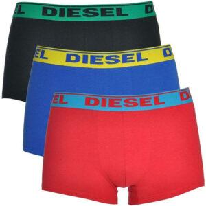 diesel umbx shawn 0gafn mens boxer shorts 3x pack stretch trunk cotton underwear