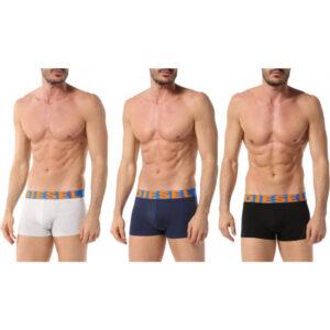 diesel umbx shawn 0gapg mens boxer shorts 3 pack stretch trunks cotton underwear