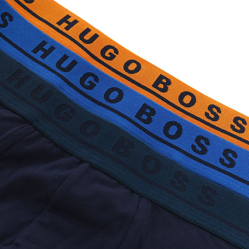 hugo boss 50395259 mens boxers 3x pack stretch cotton trunk brand logo waistband