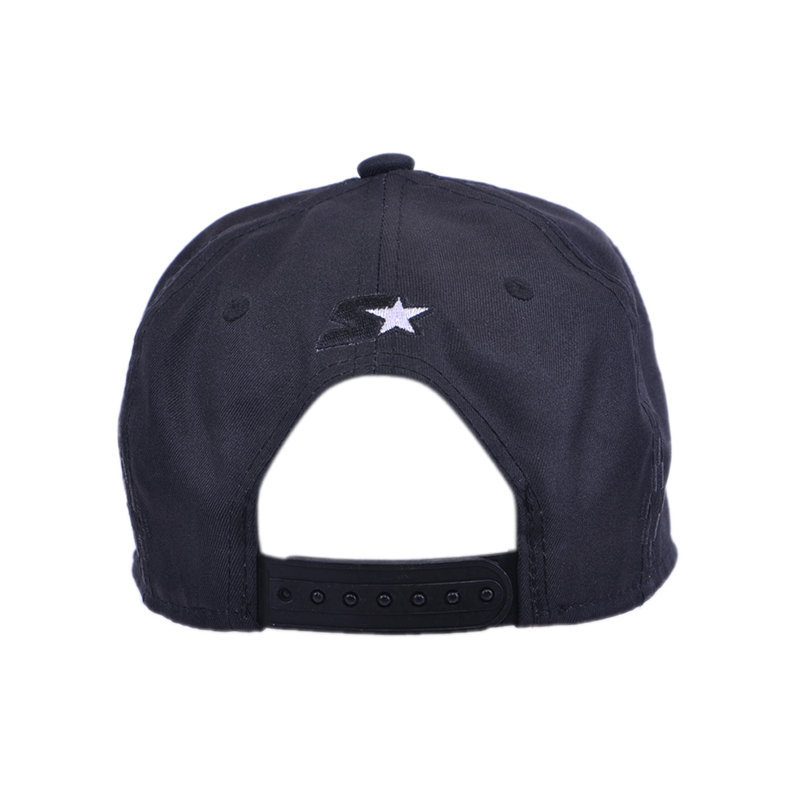 starter unisex kids baseball hat casual summer peak snap strap black cap china