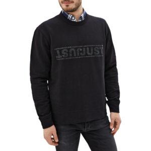 just cavalli s01gu0031 mens sweatshirt printed lettering casual pullover jumper