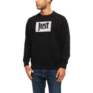 just cavalli s03gu0046 900 mens sweatshirt printed ribbed casual pullover jumper