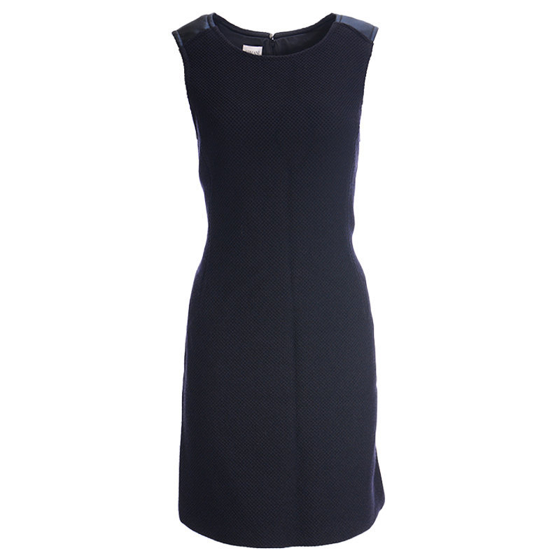 armani collection uma11t womens dress sleeveless casual party wear navy blue top
