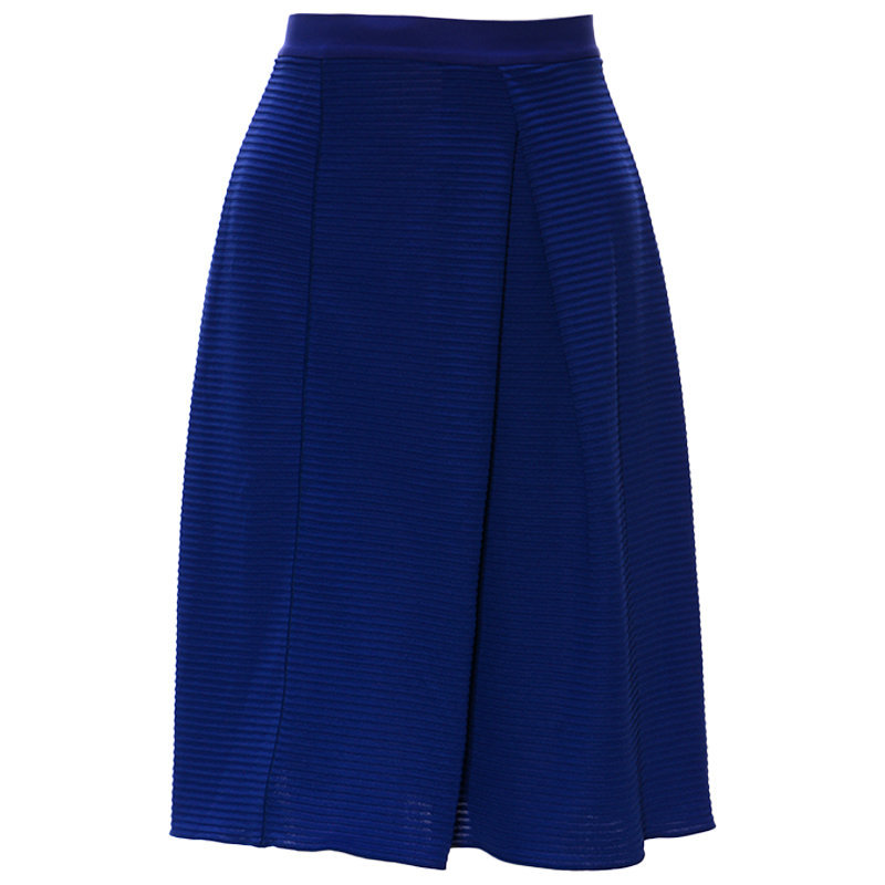 armani collections 3xmn55 womens skirts bodycon zip tube pencil midi shorts blue