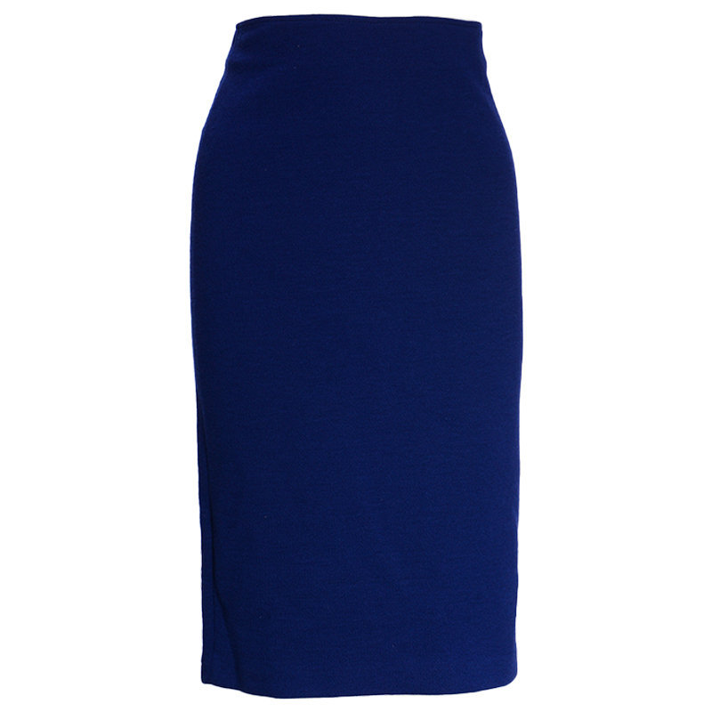 armani collections 6xmn53 womens skirts bodycon zipped tube pencil shorts blue