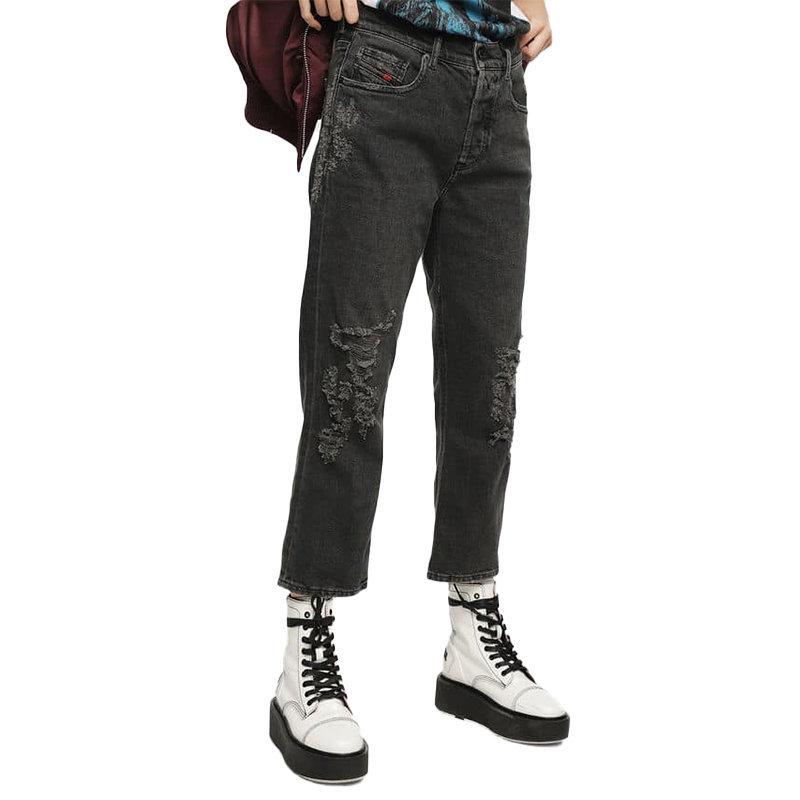 diesel aryel 085aj womens denim jeans casual pant regular straight trouser italy