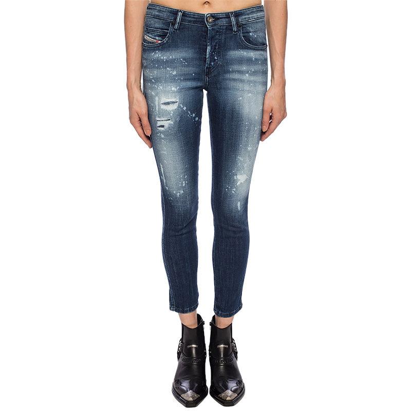 diesel babhila 0091y womens denim jeans stretch slim fit skinny casual blue pant