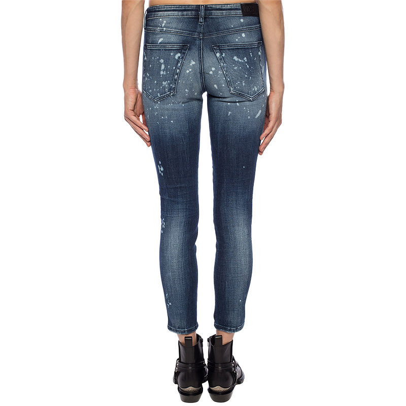 diesel babhila 0091y womens denim jeans stretch slim fit skinny casual blue pant