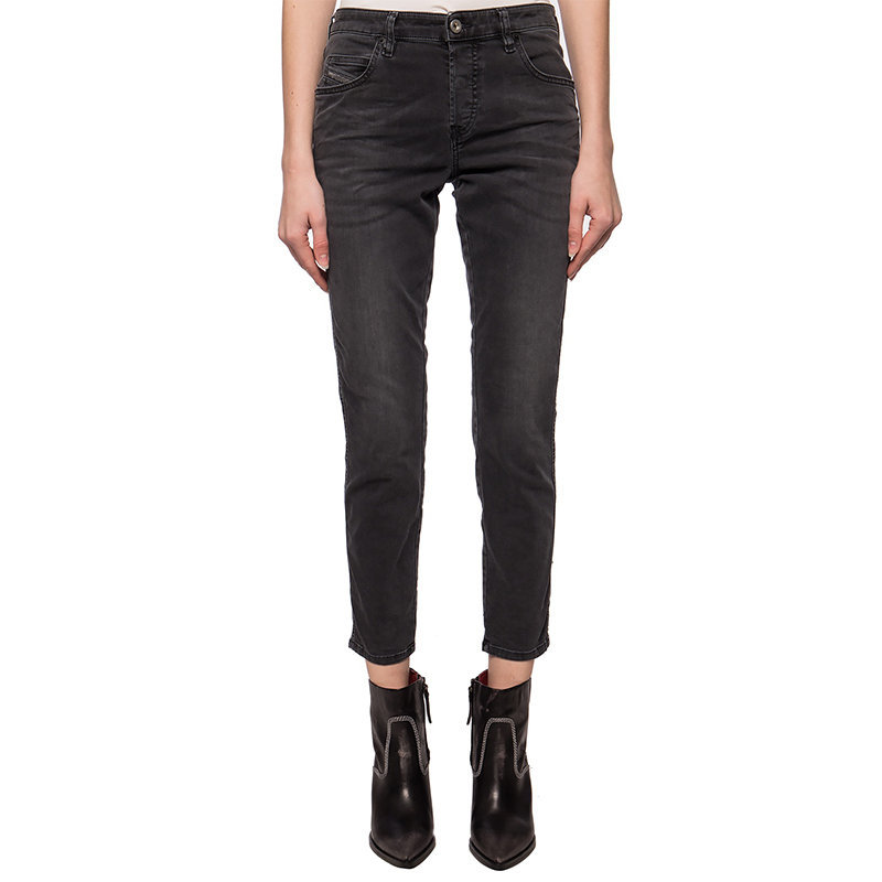 diesel babhila 069eq womens denim jeans slim fit casual pant faded grey trousers