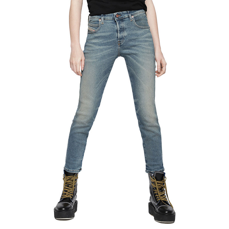 diesel babhila 084vf womens denim jeans casual pants slim trousers made in italy