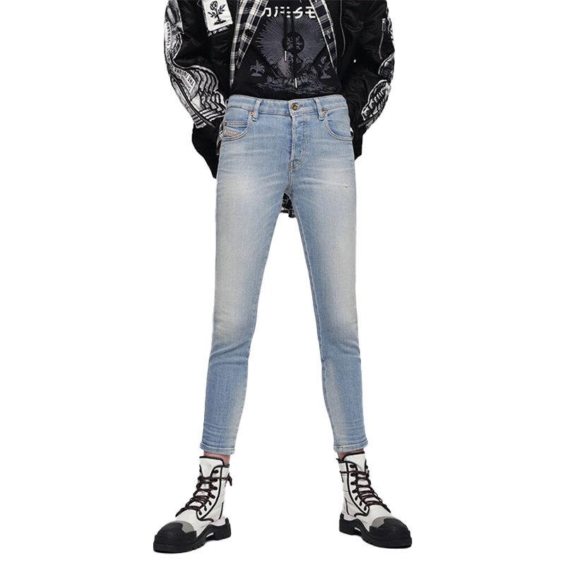 diesel babhila 086aw womens denim jeans casual slim pants skinny trouser italy