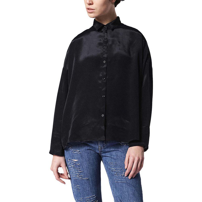 diesel c lury womens shirt long sleeve casual ladies plain black button up tops