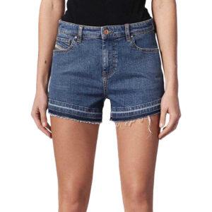 diesel de saby 0karg women denim jeans shorts raw edge vintage slim sexy shorts