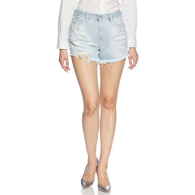 diesel de telve 0689u womens sexy shorts distressed faded vintage denim jeans