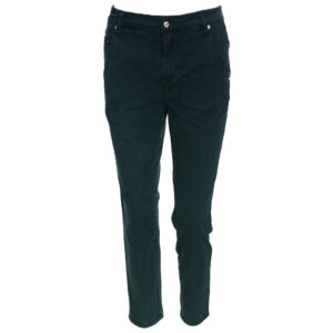 diesel fayza evo c 0papl womens chinos trousers stretch casual green pants italy