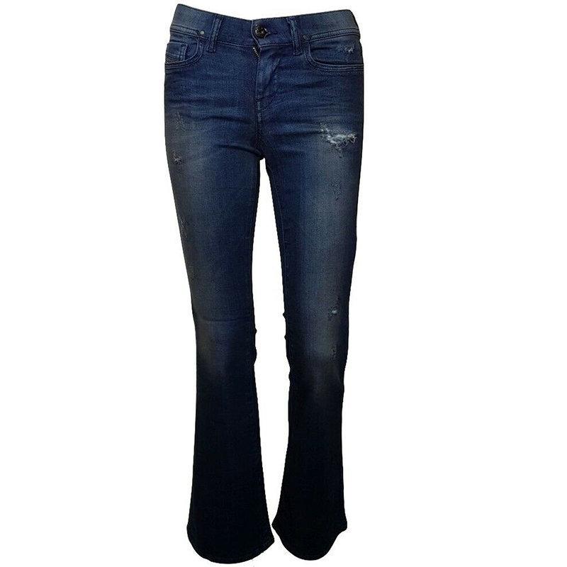 diesel lowleeh 0857c womens denim jeans casual pant slim fit faded bootcut jeans