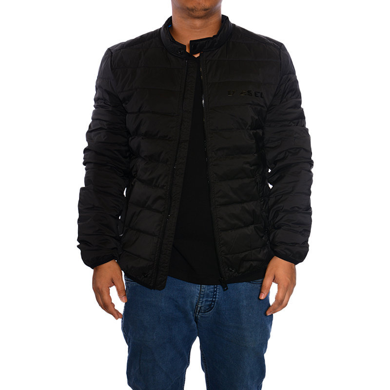 diesel mens puffer jacket padded down fill quilted casual winter outwear coat