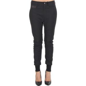 diesel p vicente womens jogging bottom slim fit casual jogger black sweatpants