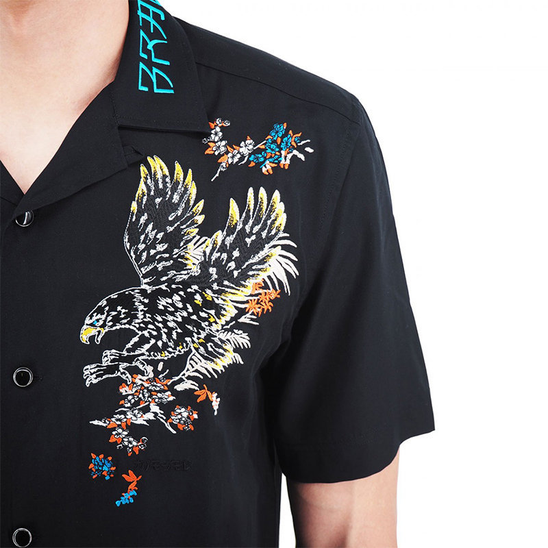 diesel s kenta a mens shirt short sleeve lyocell embroidery limited edition tops