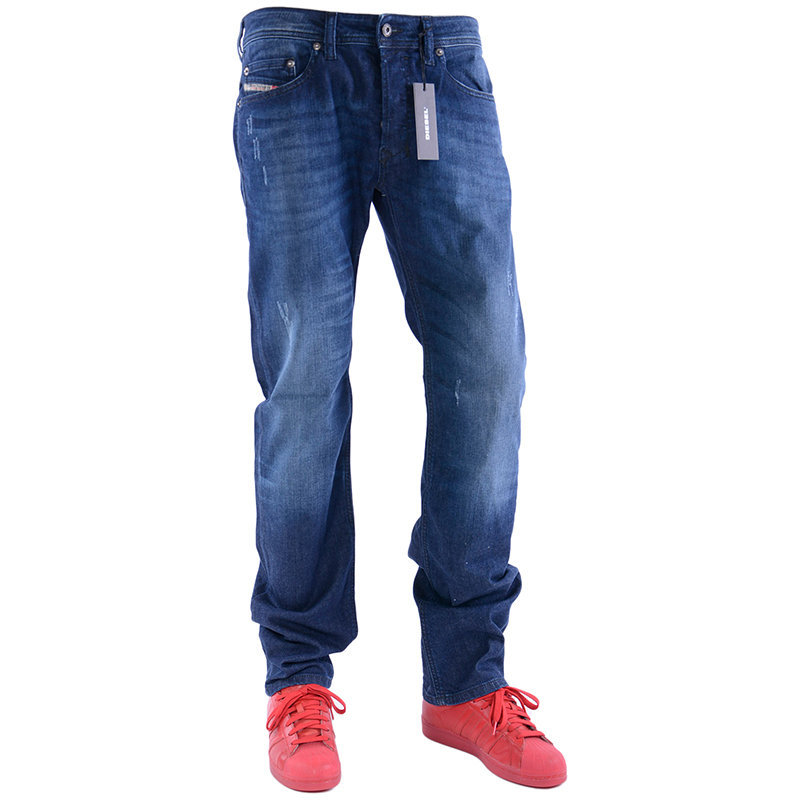 diesel safado r r842r mens denim jeans plain regular slim straight cotton pants