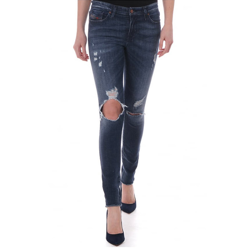 diesel skinzee 0671v womens denim jeans casual pants super slim skinny trousers