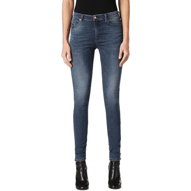 diesel skinzee low 0813e womens denim jeans casual pant lyocell skinny trousers