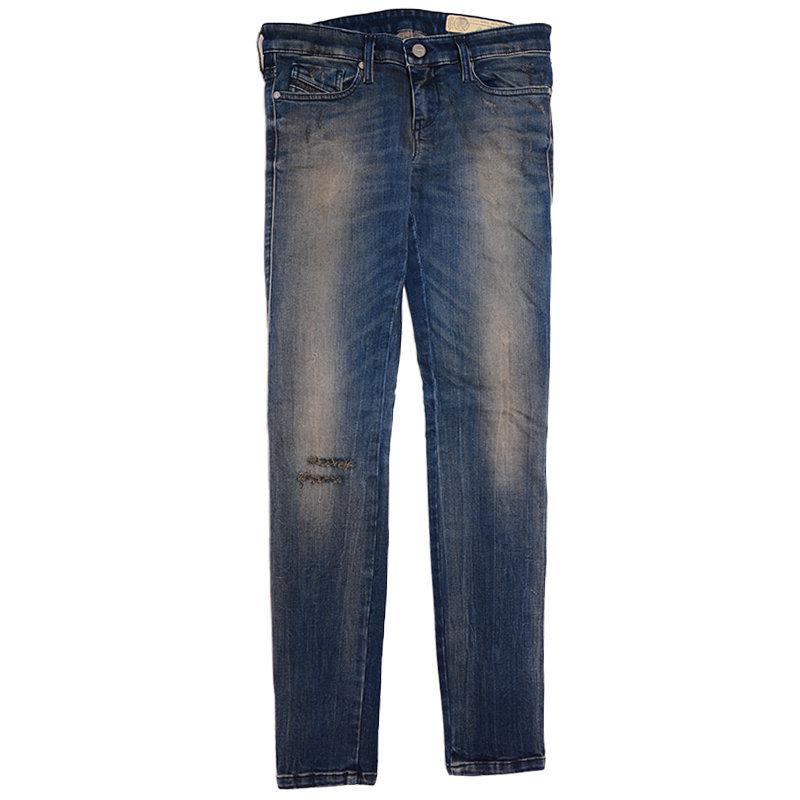 diesel skinzee low s r70x8 womens denim jeans casual pant slim fit blue trouser