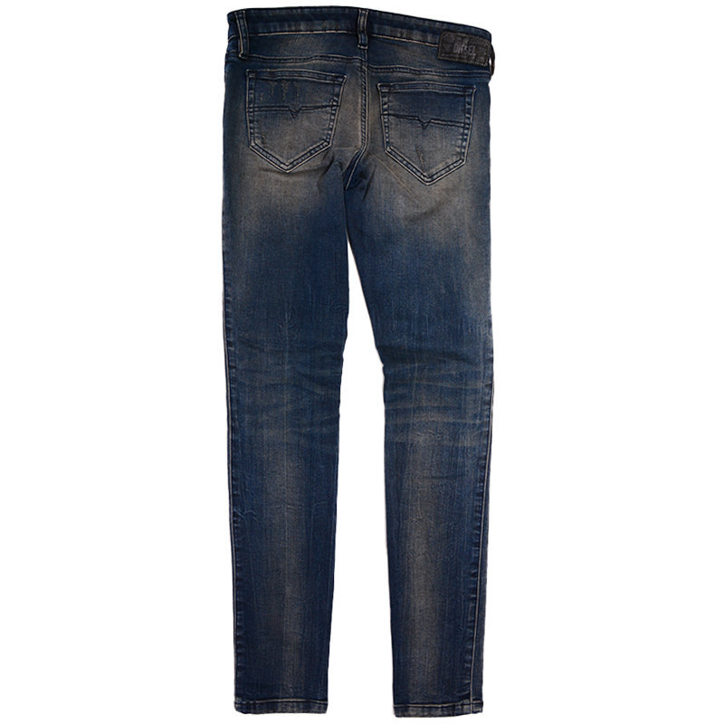 diesel skinzee low s r70x8 womens denim jeans casual pant slim fit blue trouser