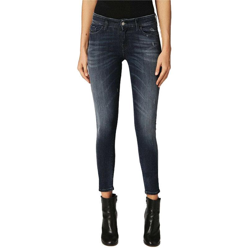 diesel slandy 084mz womens denim jeans super slim faded trouser casual blue pant