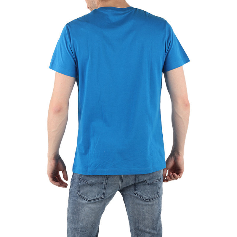 diesel t diego bb mens t-shirt crew neck short sleeve blue tee casual cotton top