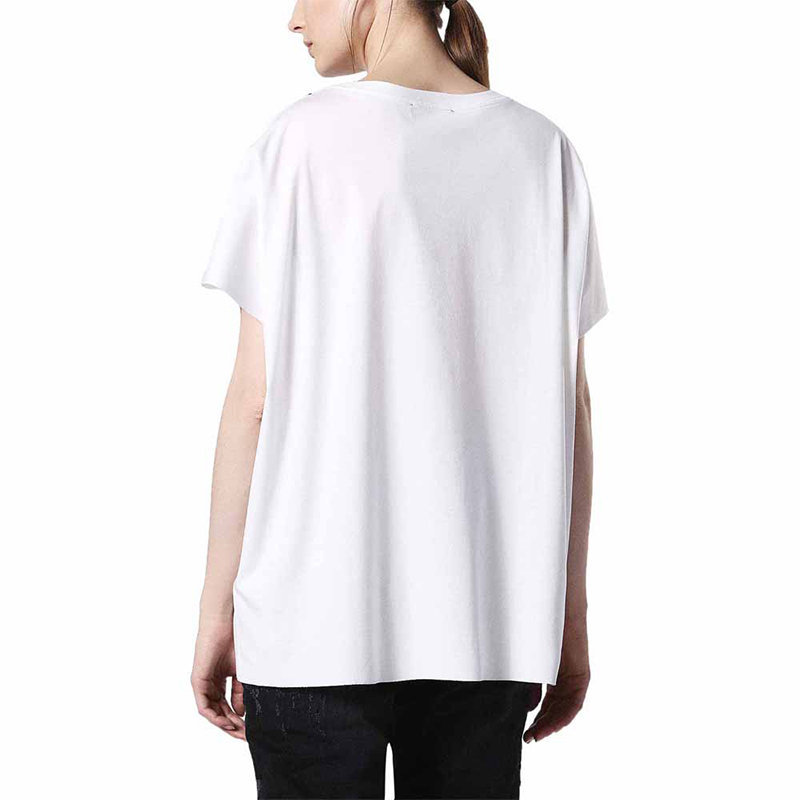 diesel t hanna bb womens t-shirt crew neck short sleeve casual summer white tops