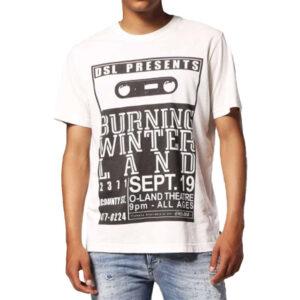 diesel t joe qj 0sapc mens t-shirt crew neck regular fit top casual cotton tee