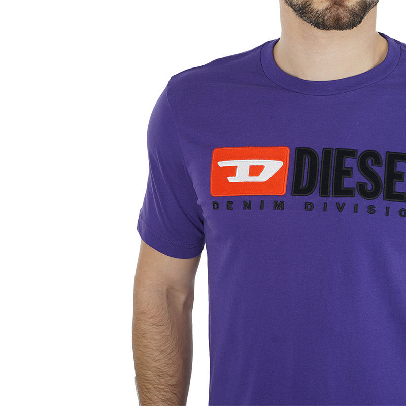 diesel t just division mens t-shirt short sleeve crew neck top casual summer tee