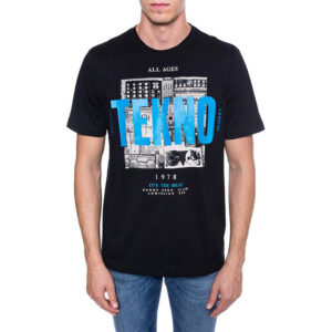 diesel t just wa mens t-shirt short sleeve crew neck casual cotton top black tee