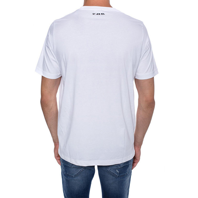 diesel t just wa mens t-shirt short sleeve crew neck white top casual cotton tee