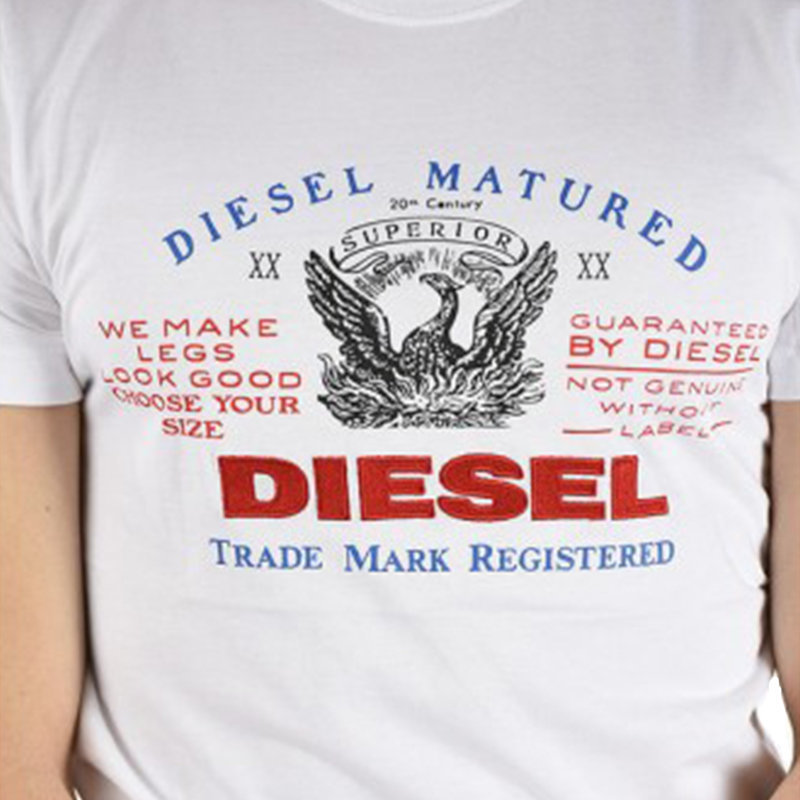 diesel mens t shirts t logys hemd crew neck short sleeve casual white summer tee