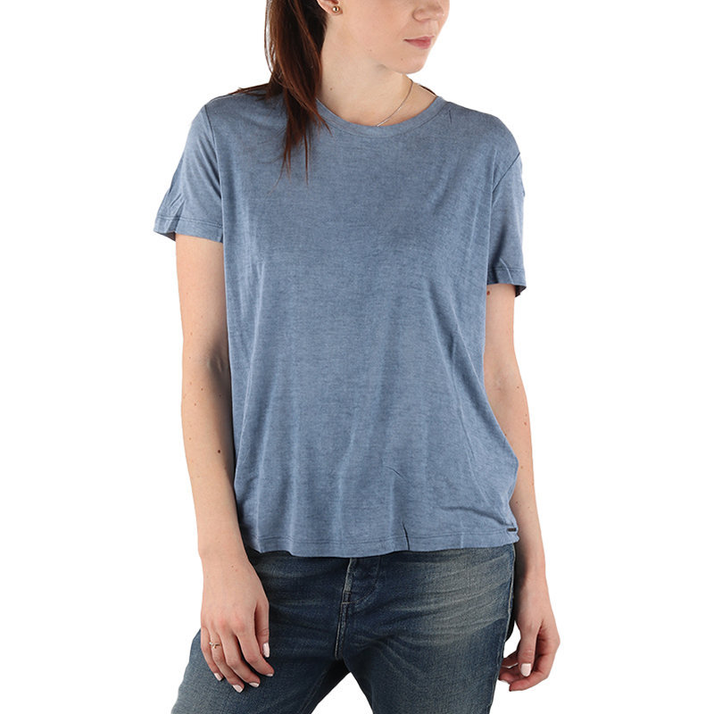 diesel t moriplaque womens t-shirt crew neck short sleeve casual summer blue tee