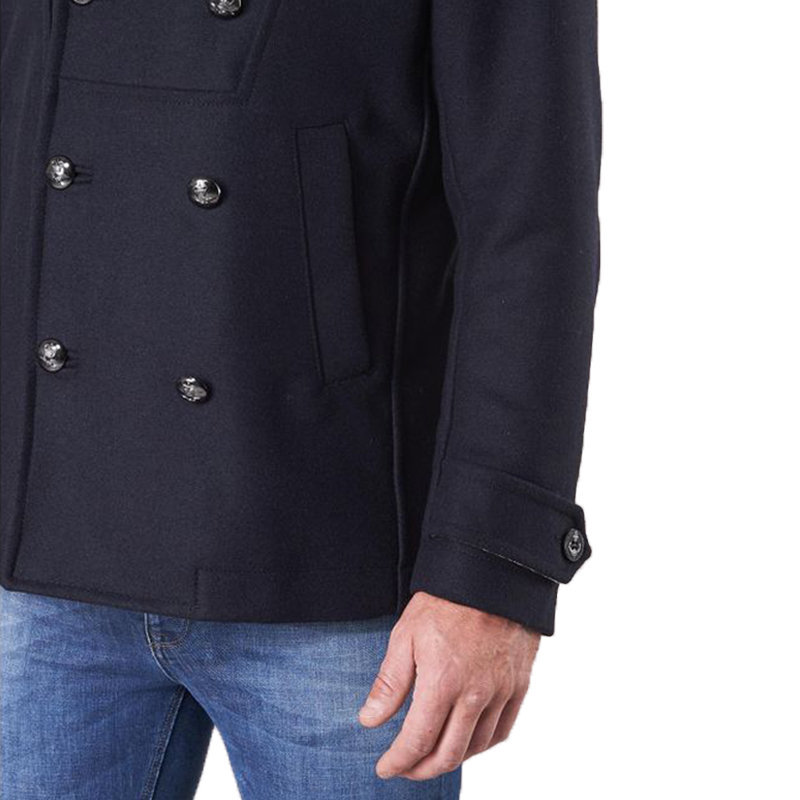 diesel w banfi mens trench coat virgin wool single breasted winter blue overcoat