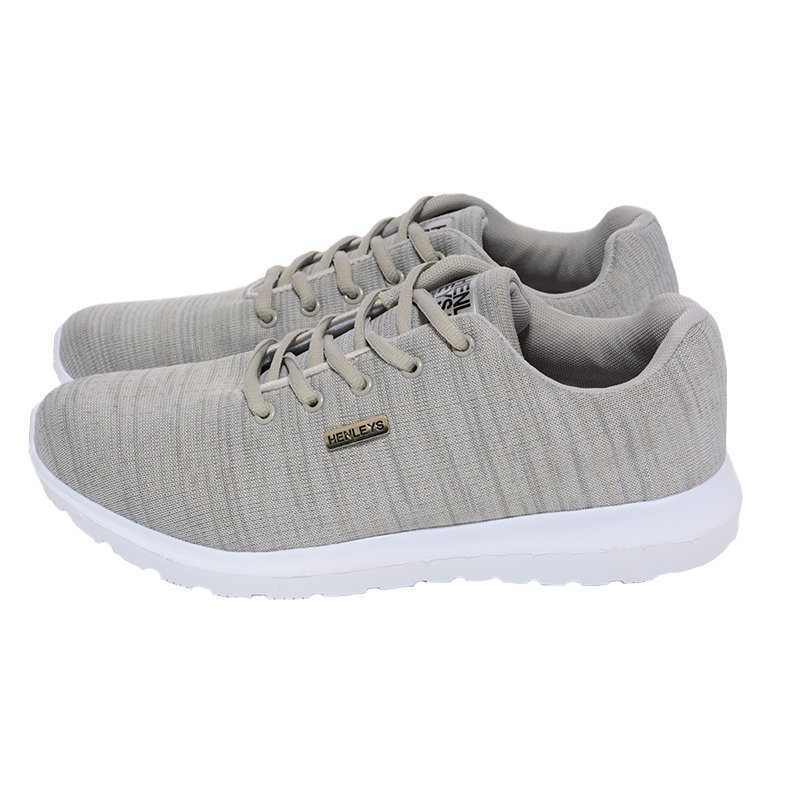 henleys mens trainers gym running jogging outdoor sneakers yoga casual gray shoe