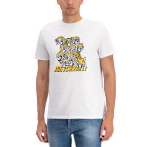 just cavalli s03gc0549 mens t-shirt tiger short sleeve tops cotton white tee