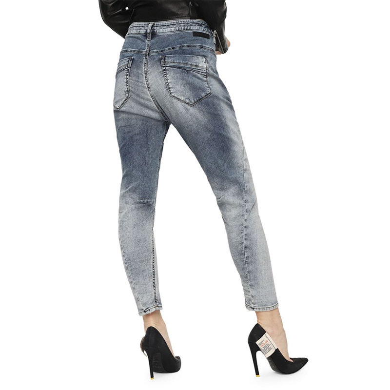 diesel fayza ne 069fc womens denim jogg jeans regular slim carrot fit trousers
