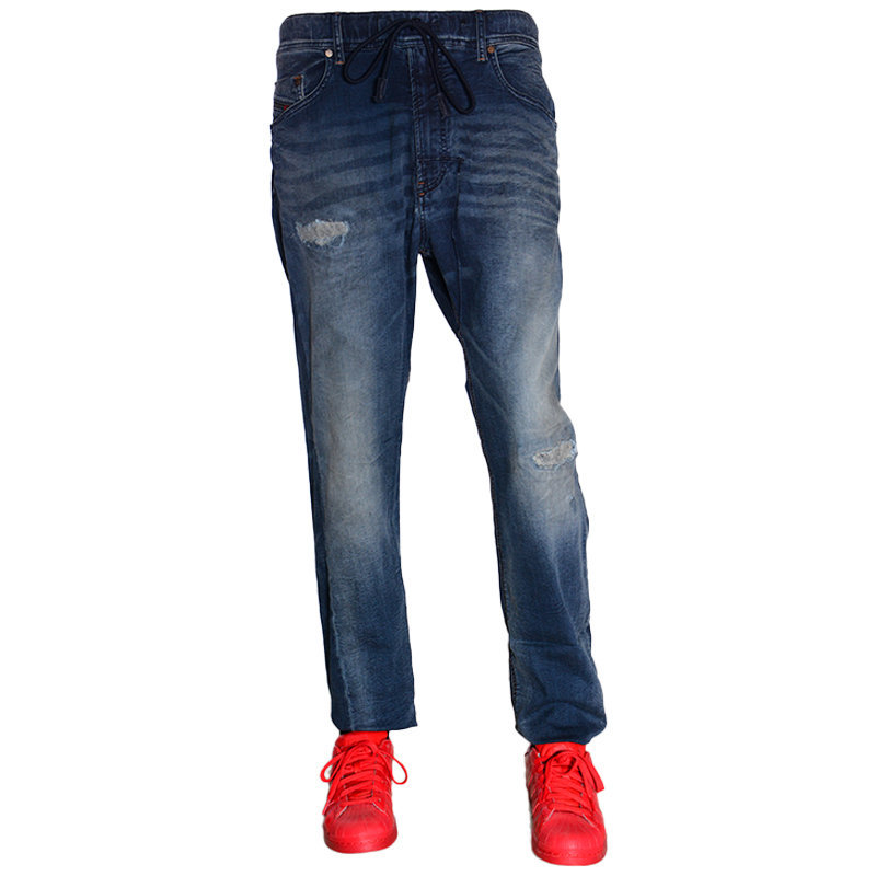 diesel narrot ne 0676v mens denim sweat jogg jeans stretch regular fit carrot