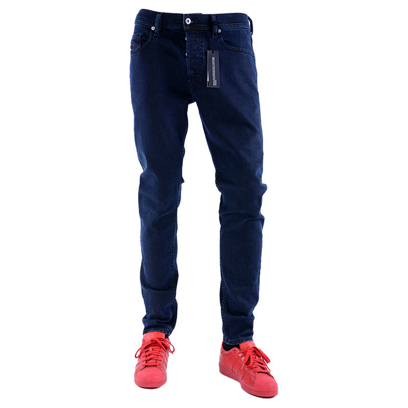 diesel tepphar 084lc mens denim jeans lyocell plain stretch pant slim fit carrot